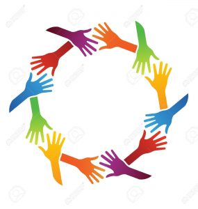 friendship circle of hands clipart