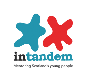 logo for intandem - mentoring Scotland's young people
