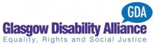 logo for GDA - the Glasgow Disability Alliance (equality, rights and social justice)
