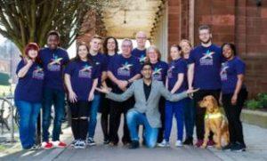 photo of Glasgow 2018 Volunteering Champions and Ambassador Sanjeev Kohli