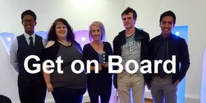 photo of Glasgow's Saltire Awards Summit Panel members for the Get on Board campaign