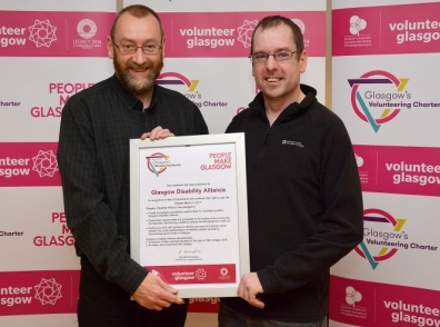 Brian and Steven from GDA receive their Volunteering Charter Mark certificate_27Jan2017