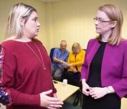 photo of Cabinet Secretary for Social Security and Older People, Shirley-Anne Somerville meeting Carers in September 2018 to listen to their experiences and views following the Scottish Government's introduction of the Carers Allowance Supplement