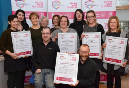 Representatives of all the 5 Charter Mark recipient organisations with their certificates